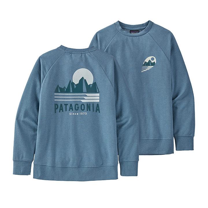 Patagonia Lightweight Crew Kindertrui Tube View Pigeon Blue - Monkshop